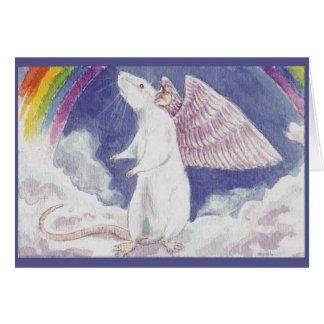 White Rat Angel Card