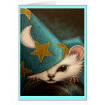 WHITE RAT/MICE/MOUSE WIZARD Card