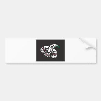 White Raven Bumper Sticker