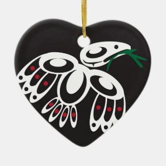 White Raven Christmas Ornament