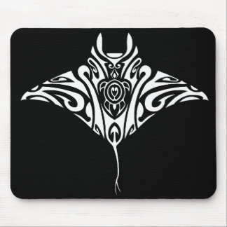 White ray Manta 2 Mouse Mat