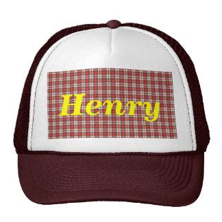 White Red and Black  Tartan Plaid Textile Design Mesh Hats