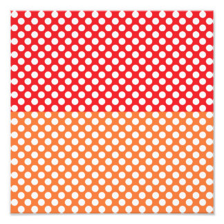 White, Red and Orange Polka Dot Photo Art
