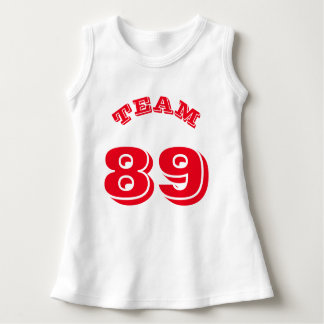 White & Red Baby | Sports Jersey Design Dress