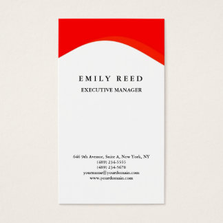 White red curve modern professional minimalist business card