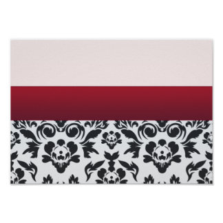 White Red Damask special gift Posters