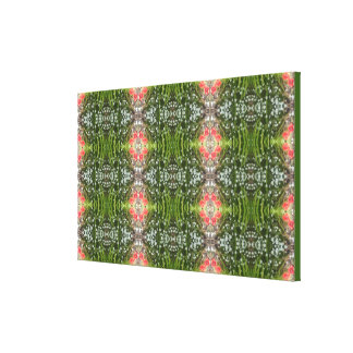 White & Red Flower Fractal Wrapped Canvas Smallish