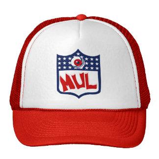White Red MUL Logo Cap Trucker Hat