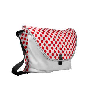 White Red Polka Dots - Messenger Bag