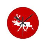 White Reindeer / Caribou Silhouette Clocks