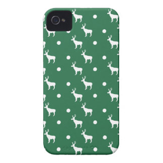 White Reindeer iPhone 4/4S Case-Mate Barely There iPhone 4 Case-Mate Case