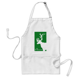 White Reindeer Peace Standard Apron