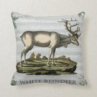 White Reindeer Pillow