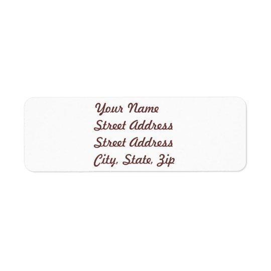 White  Return Address Sticker