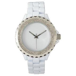 White Rhinestone Watch
