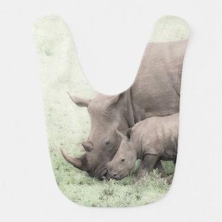 White Rhino & Baby Bib