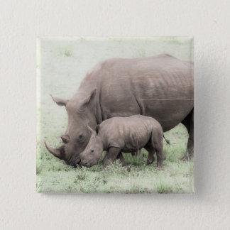 White Rhino & Baby Button