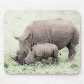 White Rhino & Baby Mousepad