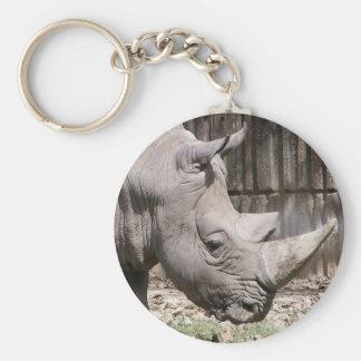 white rhino key ring