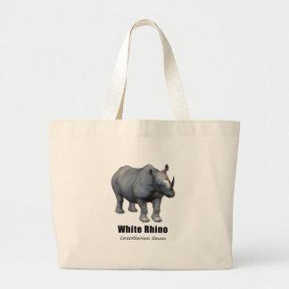 White Rhino Large Tote Bag
