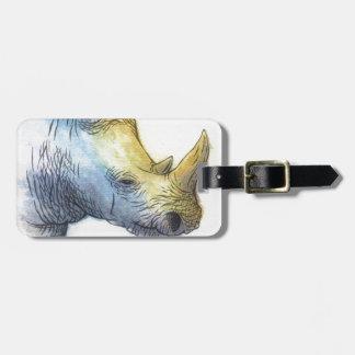 White Rhino Luggage Tag