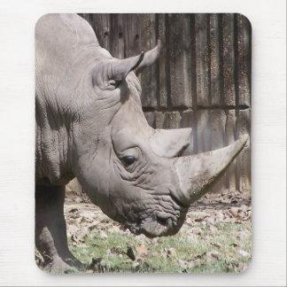 white rhino mouse mat