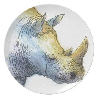 White Rhino Plate