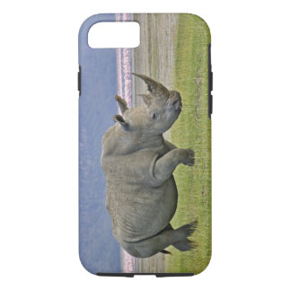 White Rhinoceros and distant Lesser Flamingos, iPhone 8/7 Case