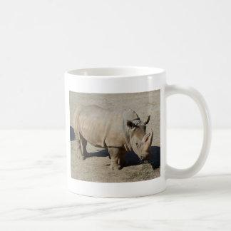 White Rhinoceros Rhino Full Body Basic White Mug