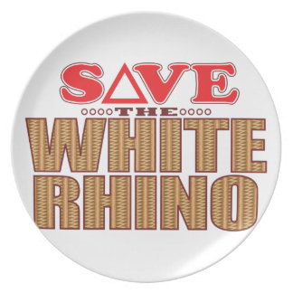 White Rhinoceros Save Plate