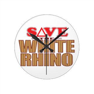 White Rhinoceros Save Wallclock