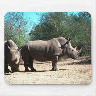 White Rhinos Mouse Mat