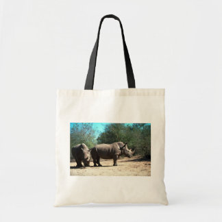 White Rhinos Tote Bag