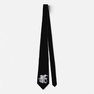 White ribbon bow tie