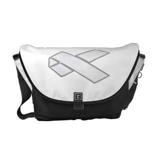 White Ribbon Messenger Bag