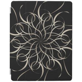 White Ribbon Snowflake Pattern iPad Cover