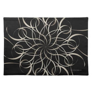 White Ribbon Snowflake Pattern Placemat