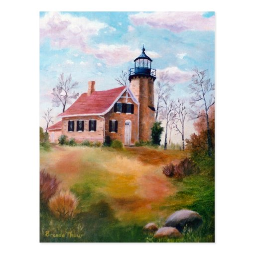 White River Lighthouse Blank Card Postcards