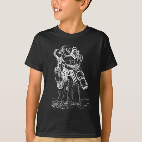 White Robot T-Shirt