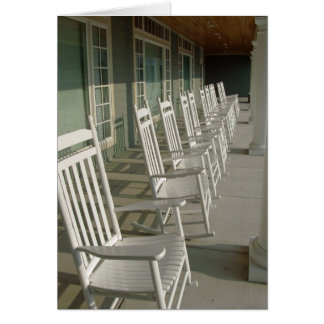 White Rocking Chairs Note Card