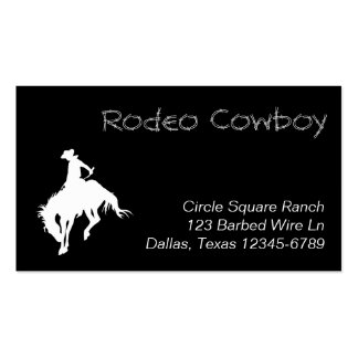 White Rodeo Cowboy Shape Pack Of Standard Business Cards