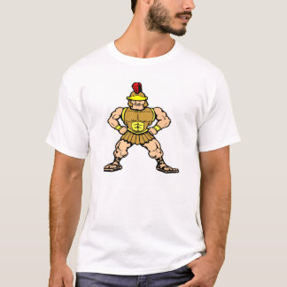 White Roman Spartan Warrior T-Shirt