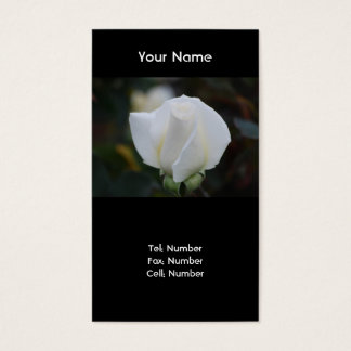White Romance Business Cards