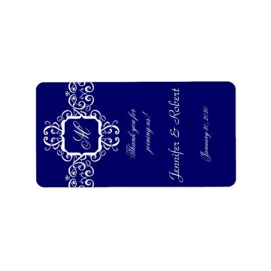 White Romance Monogram Lip Balm Sticker Address Label