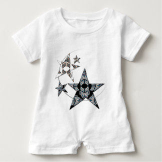White rompers with stars baby bodysuit