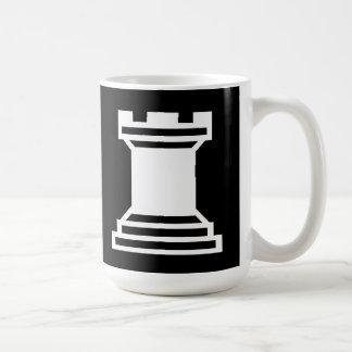 White Rook Classic White Coffee Mug