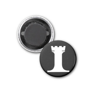 white rook (you need 2) 3 cm round magnet