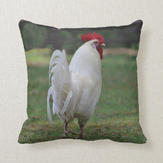 White rooster cushion