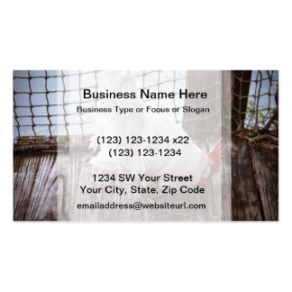 white rooster on dock Double-Sided standard business cards (Pack of 100)