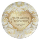 White Rose 50th Wedding Anniversary Plate